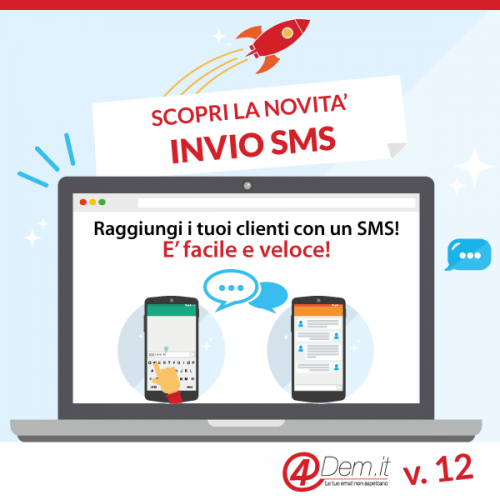 Nuova opportunità da 4Dem: SMS MARKETING