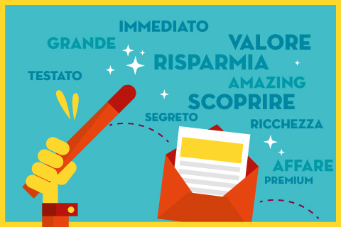Le 30 parole magiche dell'email marketing